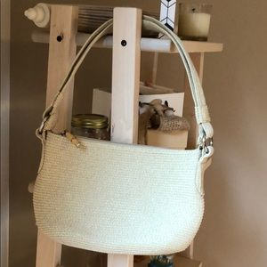 Talbots Purse NEW Woven Bamboo Accent